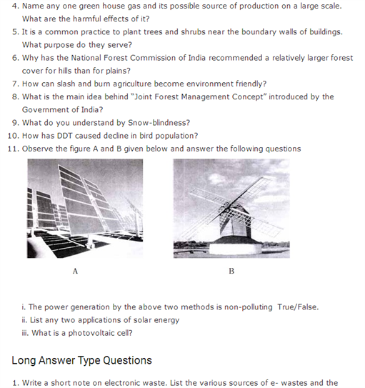 Important Questions Class 12 Biology Chapter 16 Environmental Issues Part 2