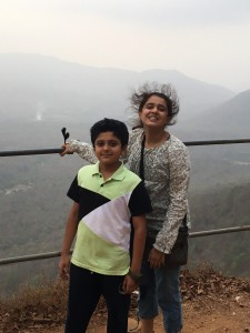 Vishruth with his mom