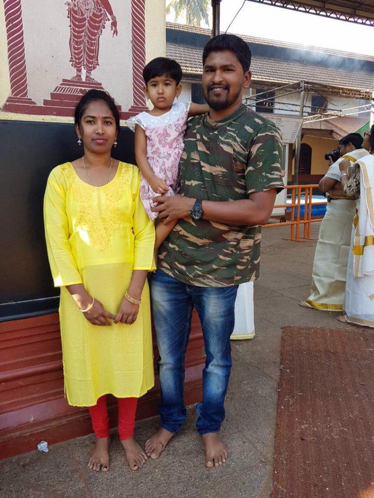 Chaluvaraya with his family