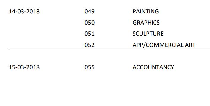 CBSE Class 12 Date Sheet 6