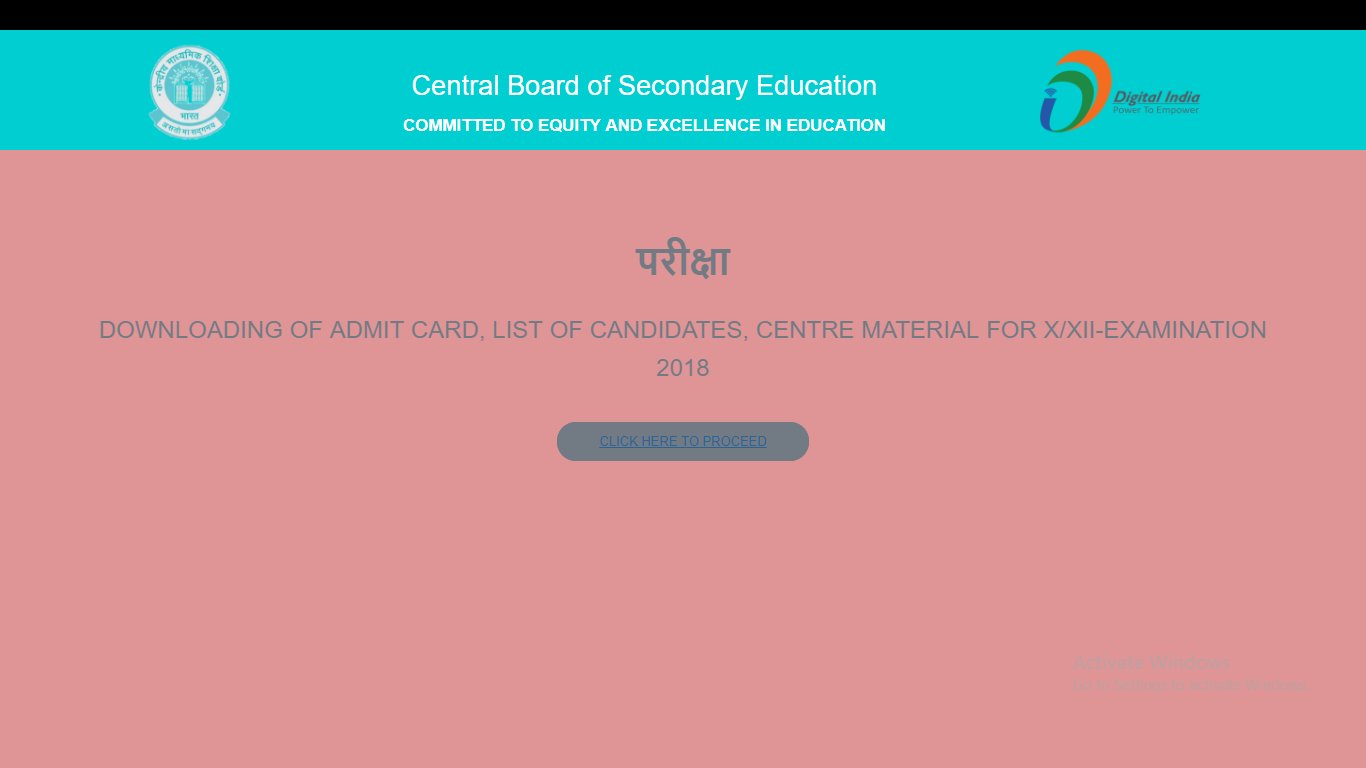 CBSE Admit Card 2018 Released for Class 10 and 12