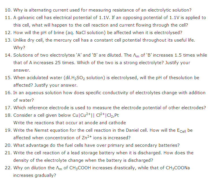 important questions class 12 chemistry chapter 3 electrochemistry 2