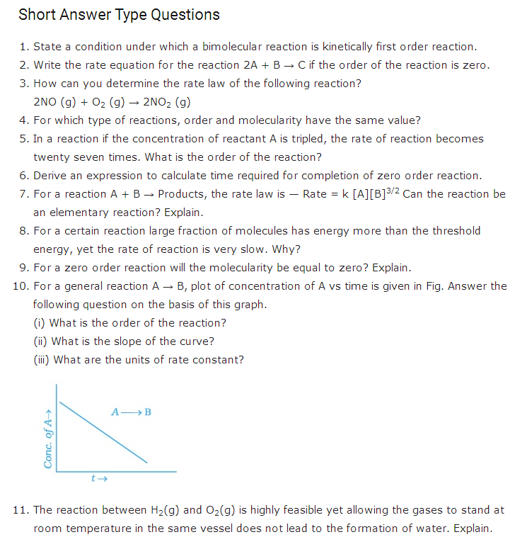 important questions class 12 chemistry chapter 4 chemical-kinetics 1