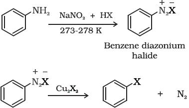 Preparation of aryl halides through Sandmeyer's reaction