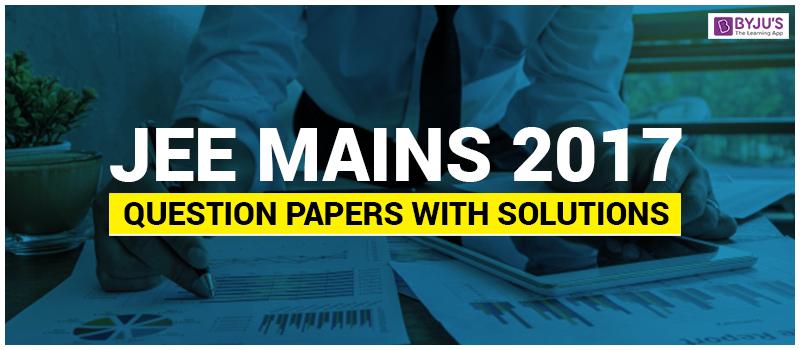 JEE Main 2017 paper