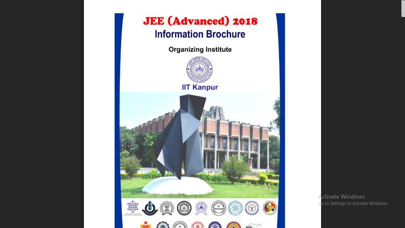 JEE Advanced 2018 Information Brochure