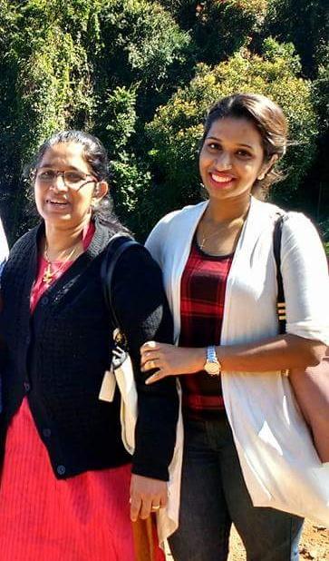 Anju Alex with her mom