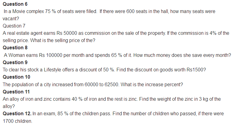 important questions class 8 maths chapter 8 comparing quantities 2