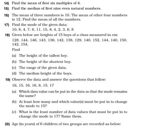 important questions class 8 maths chapter 5 data handling 3