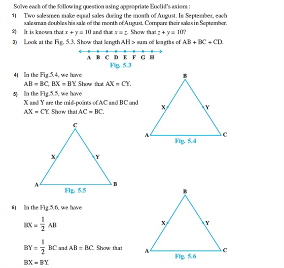 important questions class 9 maths chapter 5 introduction euclids geometry 1
