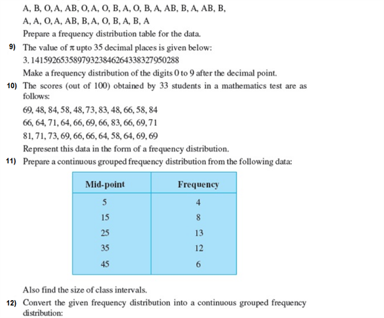 Important questions for class 9 maths Chapter 14 Statistics 3