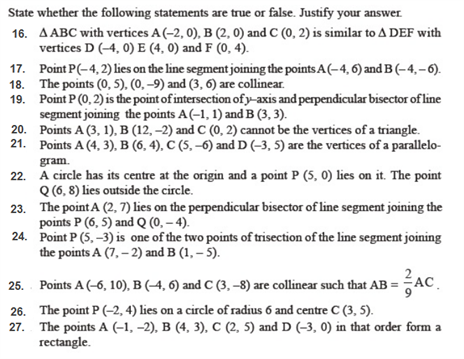 important questions class 10 maths chapter 7 coordinate geometry 2