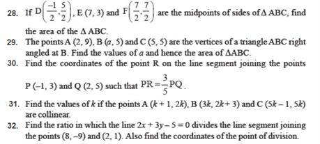 important questions class 10 maths chapter 7 coordinate geometry 3