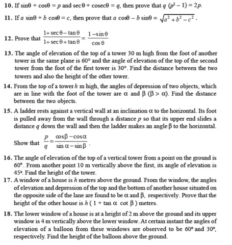 important questions class 10 maths chapter 8 introduction trigonometry 4