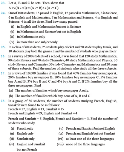 important questions class 11 maths chapter 1 sets 3