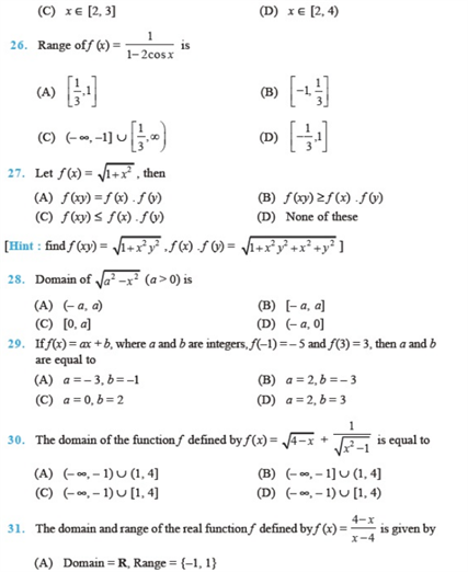 important questions class 11 maths chapter 2 relations functions 4
