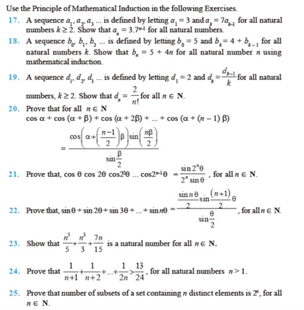 Important Questions Class 11 Maths Chapter 4 Principles Mathematical Induction Part 2