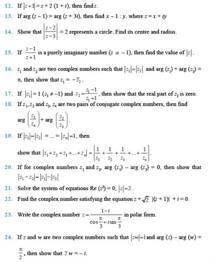 Important Questions Class 11 Maths  Chapter 5 Complex Numbers Quadratic Equations Part 2
