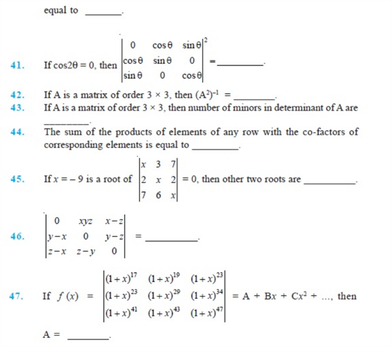 important questions class 12 maths chapter 4 determinants 9