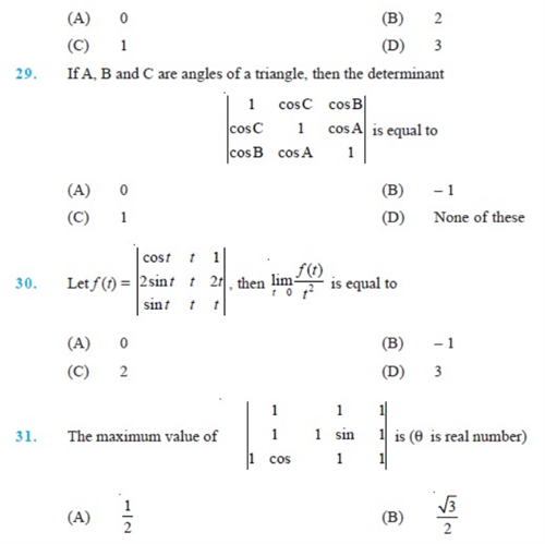 important questions class 12 maths chapter 4 determinants 6
