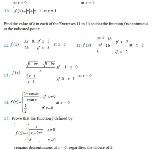 important questions class 12 maths chapter 5 continuity differentiability 2