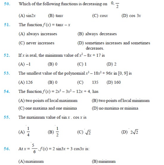 Important Questions Class 12 maths Chapter 6 Applications Derivatives Part 7