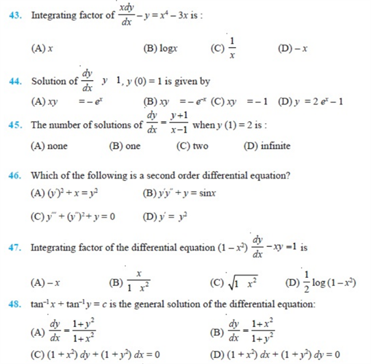 important questions class 12 maths chapter 9 differential equations 6