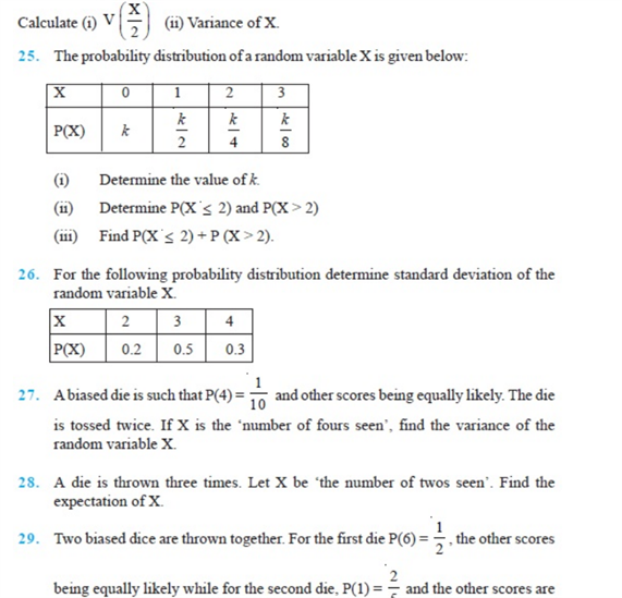 Important Questions Class 12 Maths Chapter 13 Probability Part 4