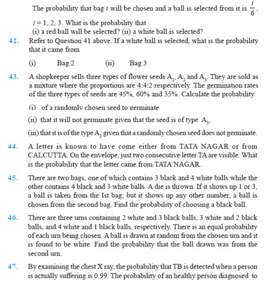 Important Questions Class 12 Maths Chapter 13 Probability Part 7