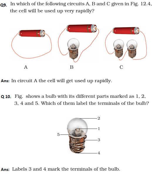 Magnificent Ncert Solutions Class 6 Science Chapter 12 Electricity And Circuits Wiring 101 Photwellnesstrialsorg