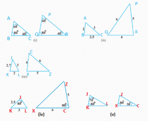 NCERT Solutions For Class 10 Maths Chapter 6 - Triangles - Exercise 6.3 question 1