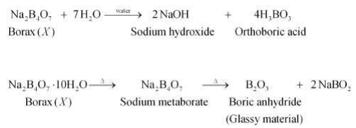 sodium metaborate and boric anhydride