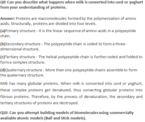 Ncert Solutions Class 11 Biology Chapter 9 Biomolecules Download Now