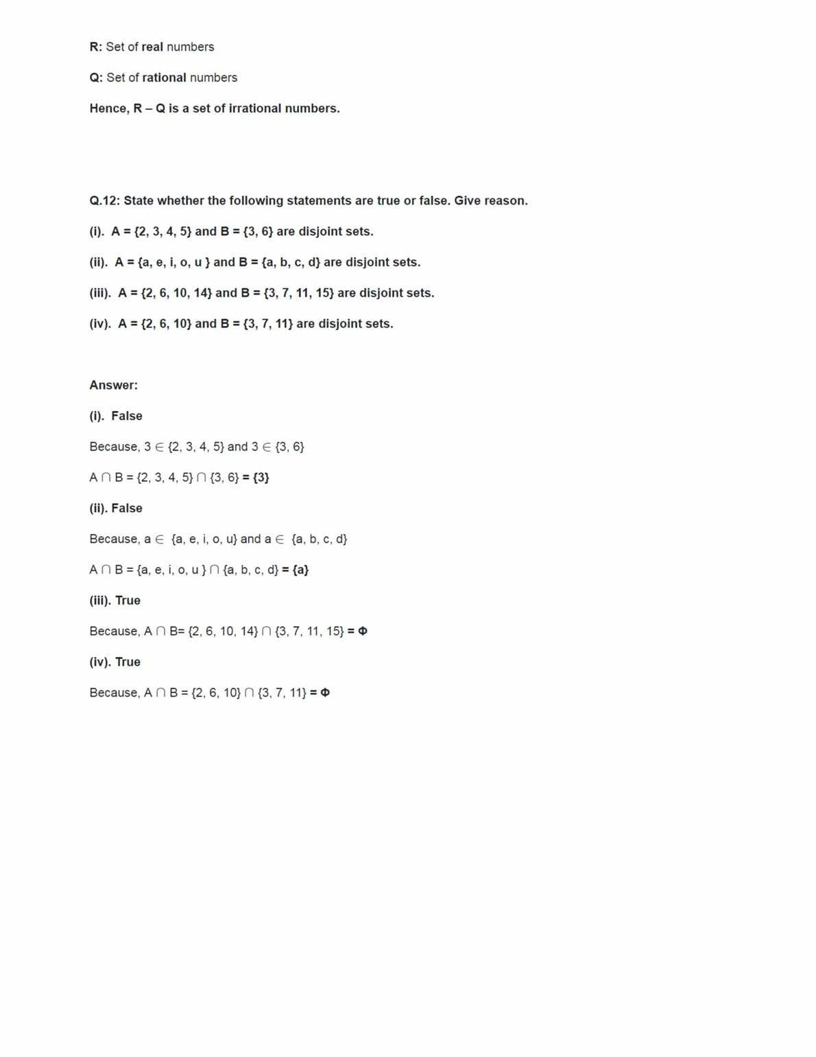 Class 11 Maths Ncert Solutions Chapter 1 Ex 1.4
