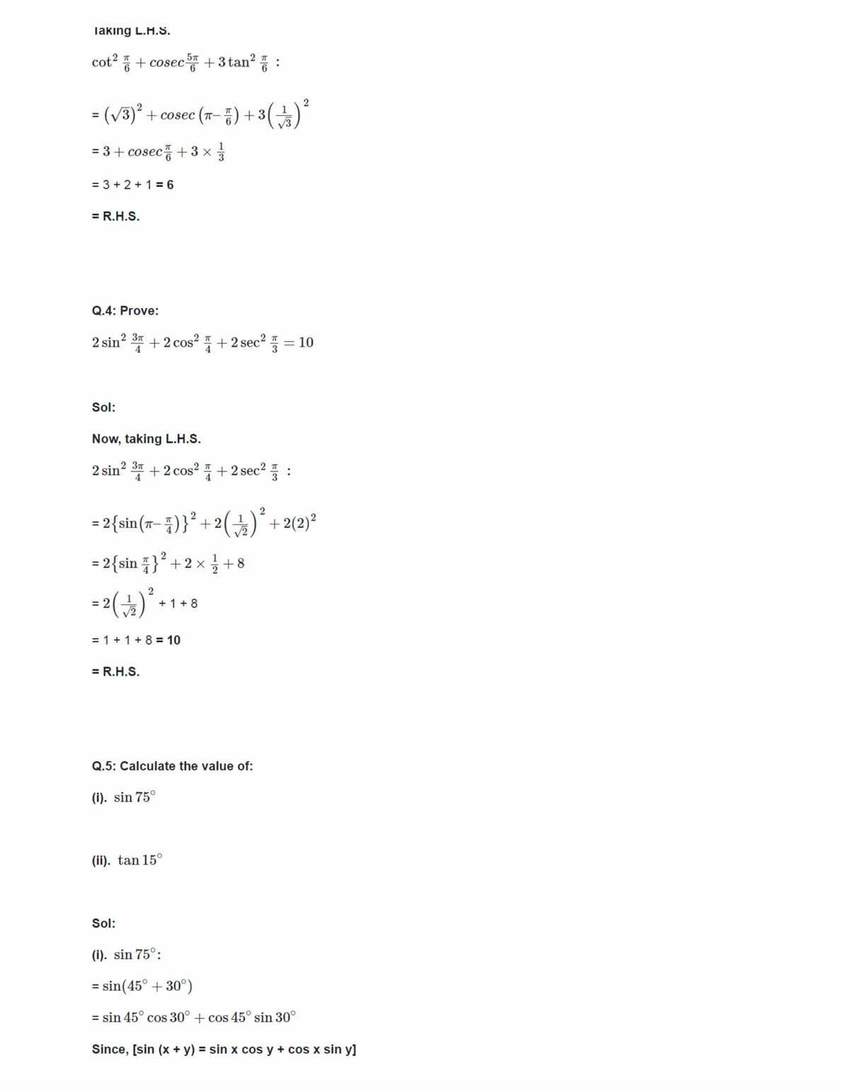 ncert solutions for class 11 maths chapter 3 pdf download