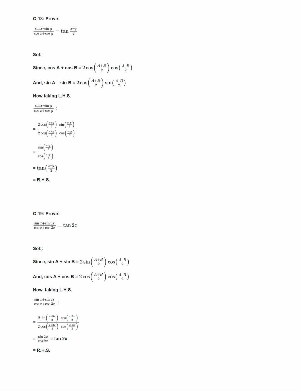 Class 11 Maths Ncert Solutions Chapter 3 Ex 3.3