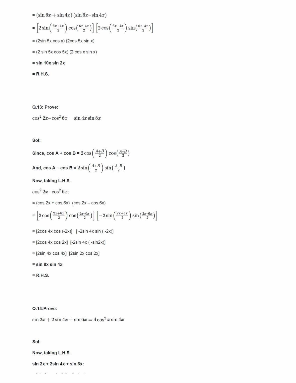 11th Class Maths Ncert Book Solution