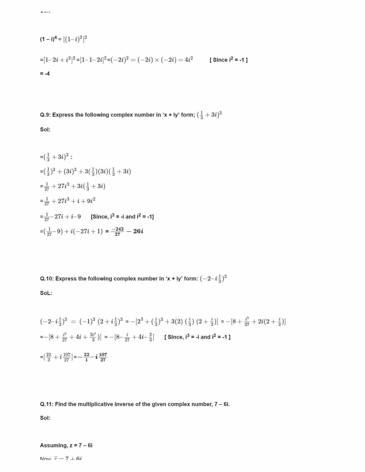 Class 11 Maths Ncert Solutions Chapter 5 Ex 5.1