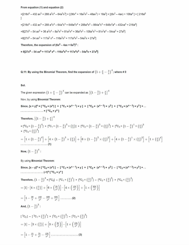 Class 11 Maths Ncert Solutions Chapter 8 Ex 8.3