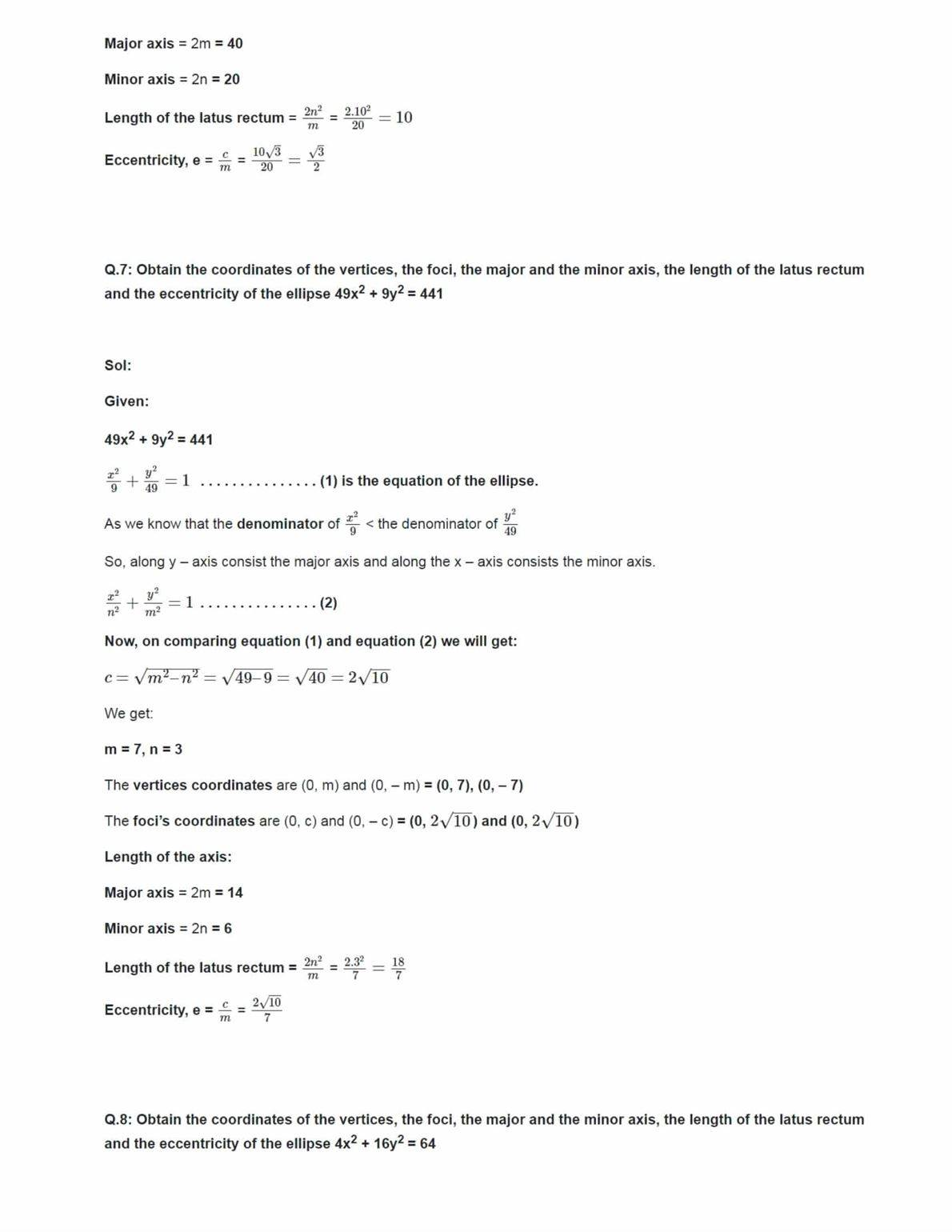 Class 11 Maths Ncert Solutions Chapter 11 Ex 11.3