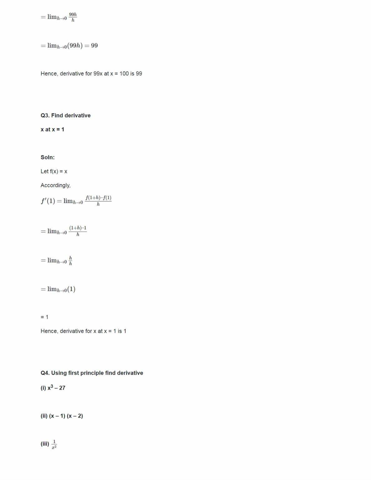 Class 11 Maths Ncert Solutions Chapter 13 Ex 13.2
