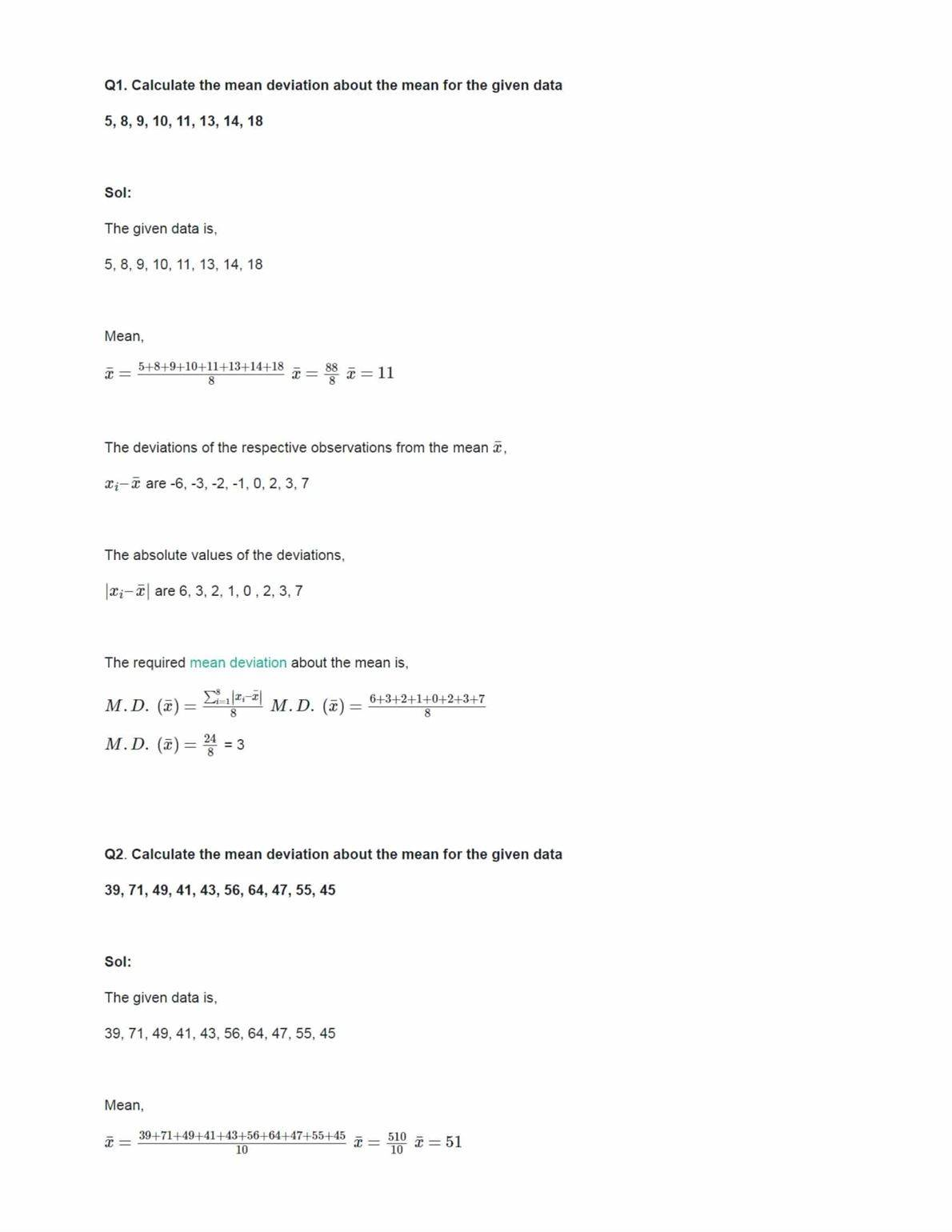Class 11 Maths Ncert Solutions Chapter 15 Ex 15.1