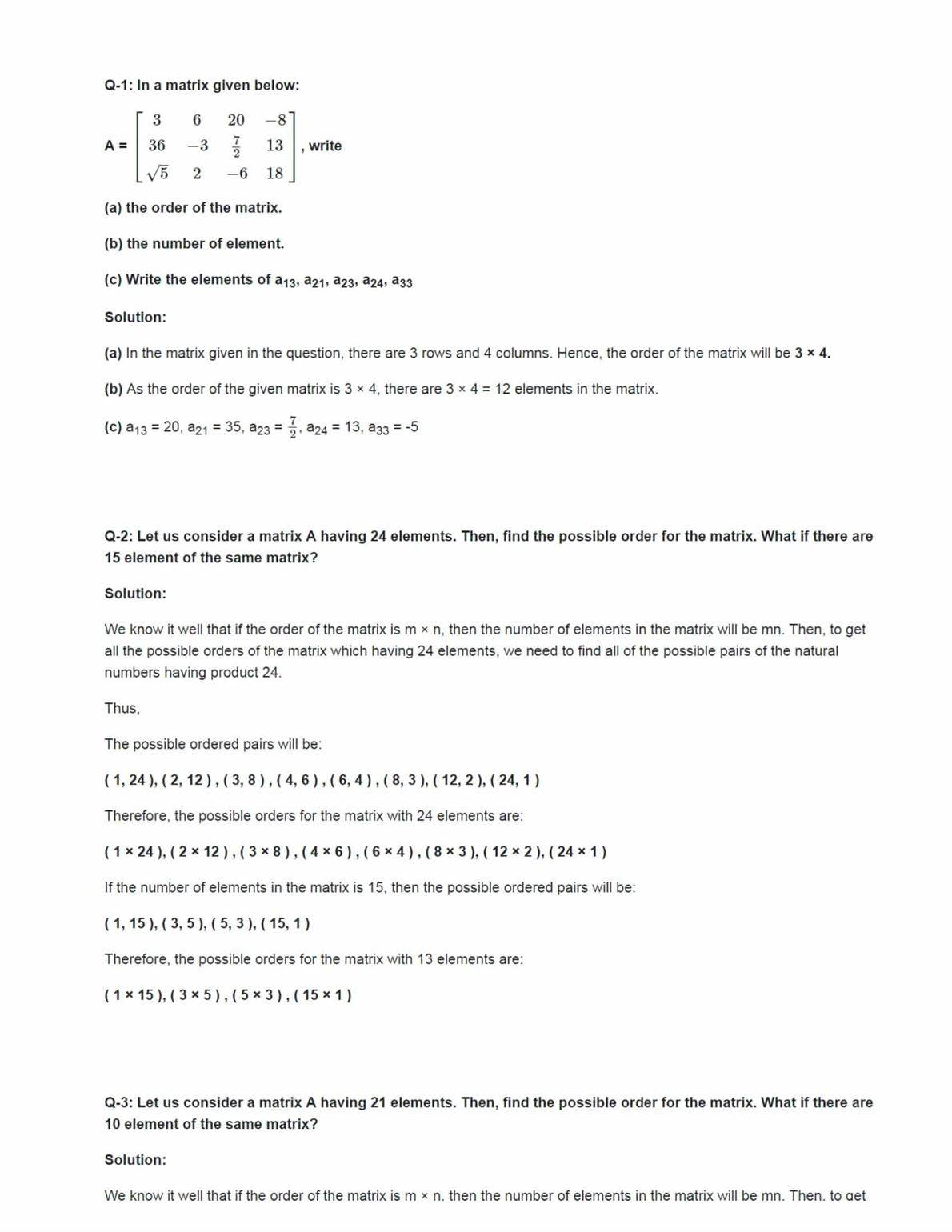 Ncert Solutions For Class 12 Maths Chapter 3 Ex 3.1