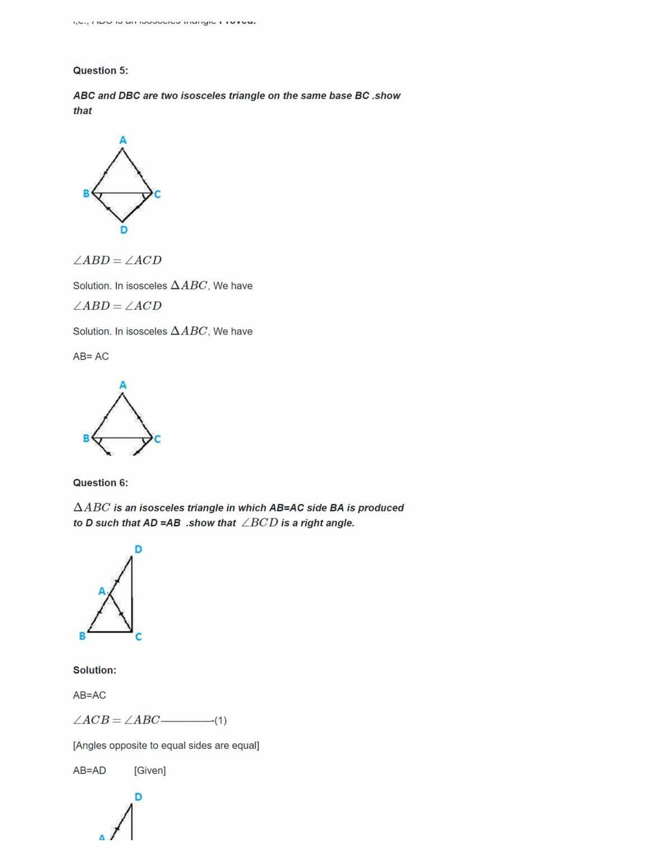 Ncert Solutions For Class 9 Maths Chapter 7 Ex 7.2