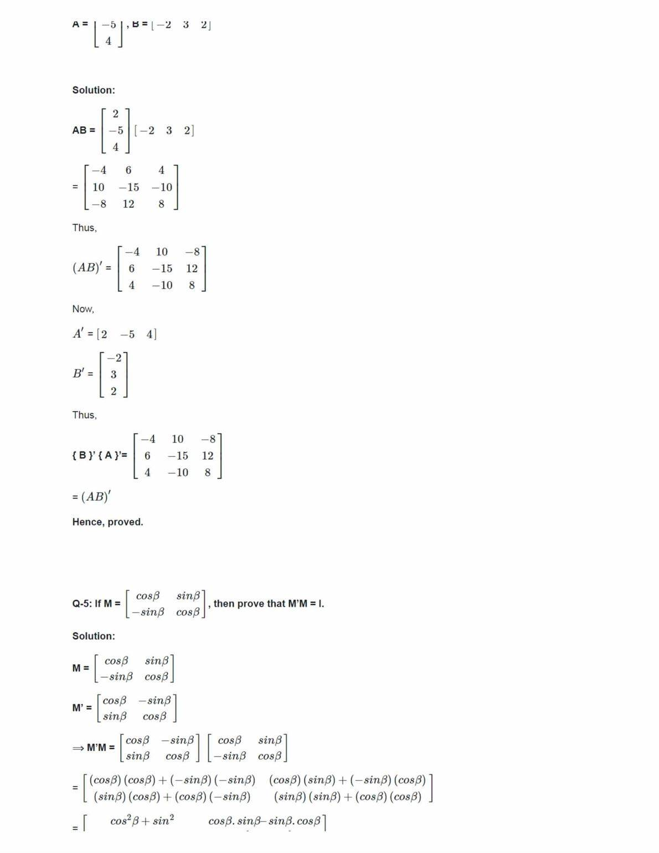 Ncert Solutions For Class 12 Maths Chapter 3 Ex 3.3