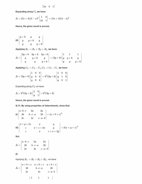 Ncert Solutions For Class 12 Maths Chapter 4 Ex 4.2