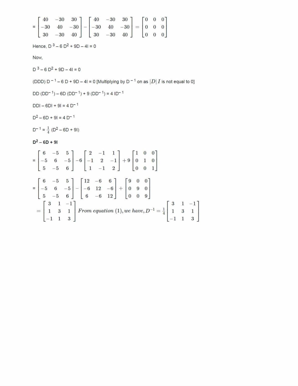 Ncert Solutions For Class 12 Maths Chapter 4 Ex 4.5