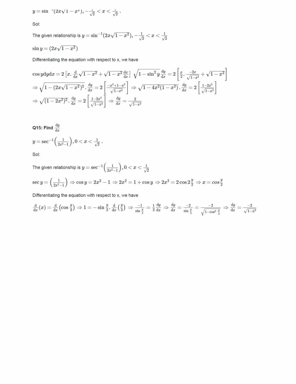 Ncert Solutions For Class 12 Maths Chapter 5 Ex 5.3