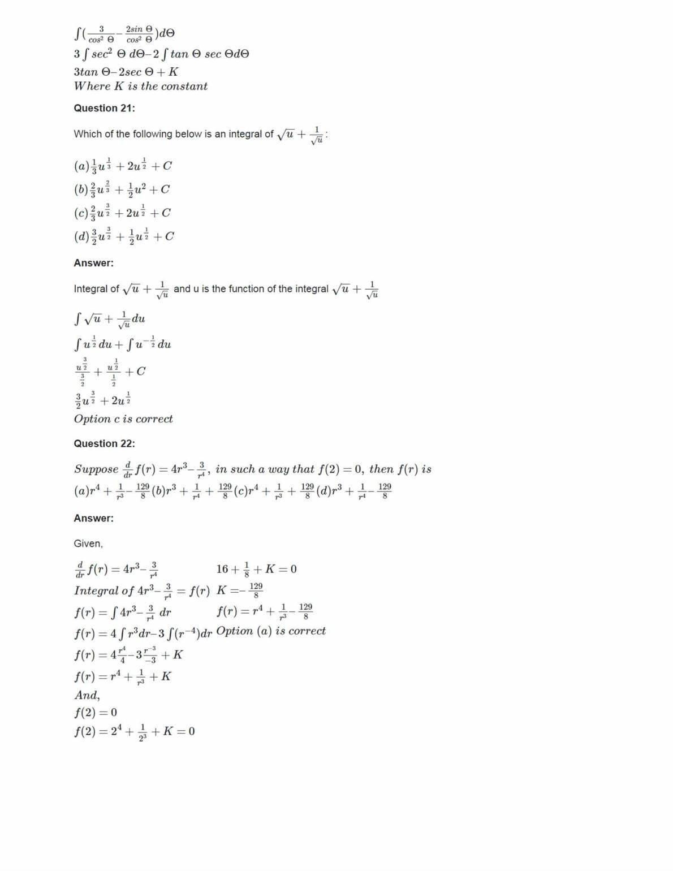 Ncert Solutions For Class 12 Maths Chapter 7 Ex 7.1