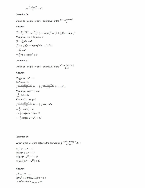 Ncert Solutions For Class 12 Maths Chapter 7 Ex 7.2